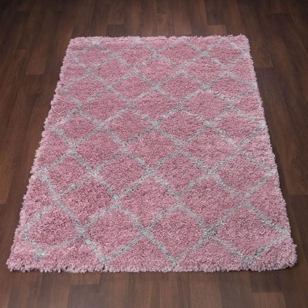 Ковер MILD SHAGGY дизайн 08695A Grey/Pink