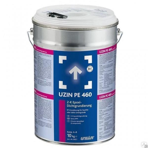 Барьерная грунтовка для влажных и слабых оснований Uzin PE 460 на 17-50 кв.м в 1 слой