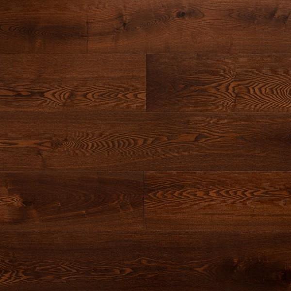 Массивная доска  Amber wood Ясень Шоколад Браш Лак