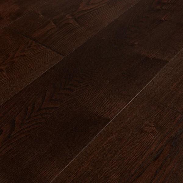 Массивная доска  Amber wood Ясень Кофе Браш Лак