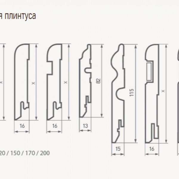 Плинтус напольный Finitura Dekor Вставка Фигурная