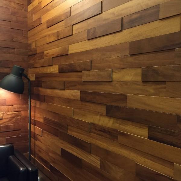 Стеновые 3D панели из дерева Ribadao Ироко