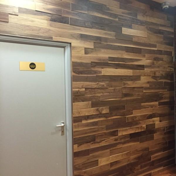 Стеновые 3D панели из дерева Ribadao Орех американский селект