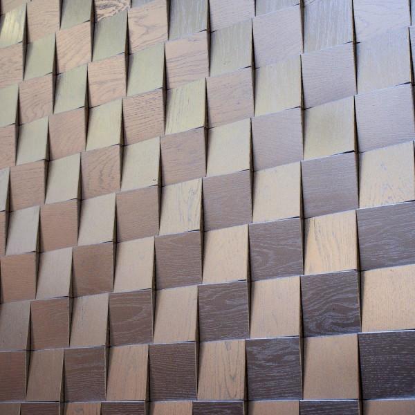 Стеновые 3D панели из дерева Esse 1002 Квадрат серебро