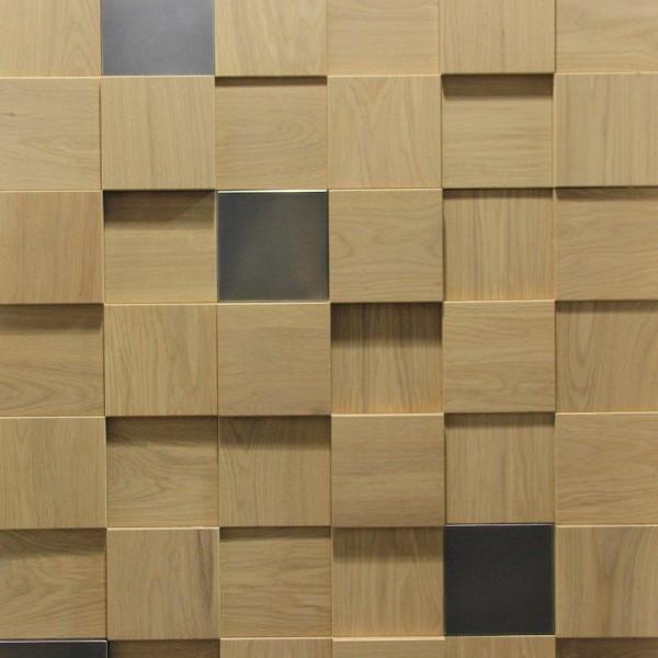 Стеновые 3D панели из дерева Esse 1026_1 Дуб со вставками
