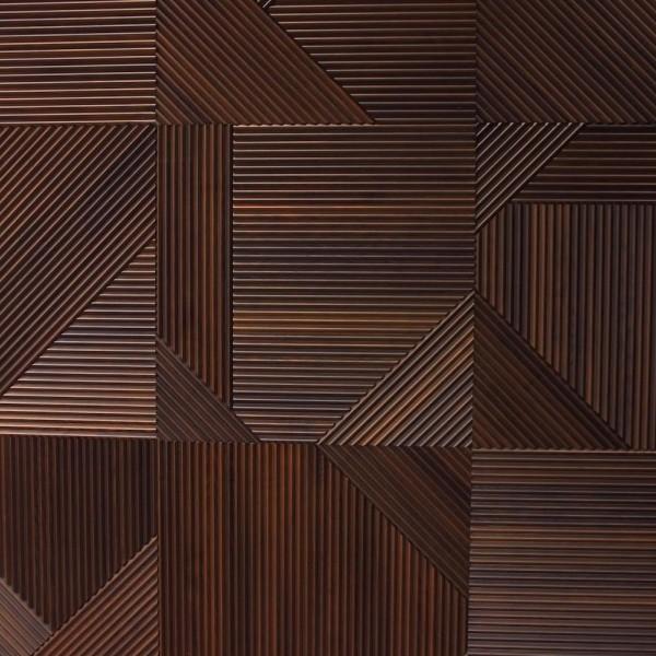 Стеновые 3D панели из дерева Esse 1031 П Фрезерованый термо ясень