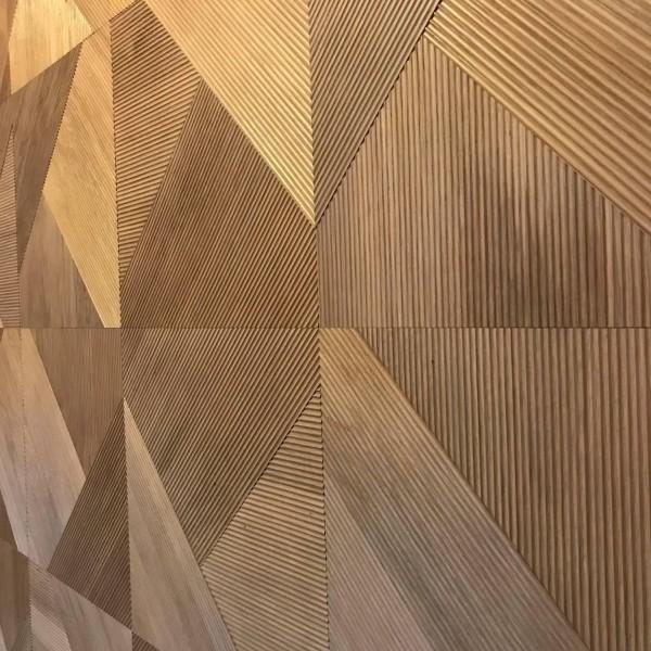 Стеновые 3D панели из дерева Esse 1031 П Фрезерованая дуб коньяк