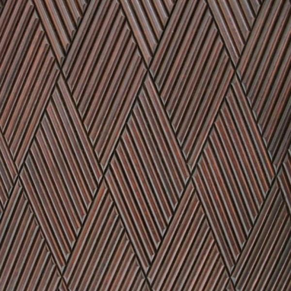 Стеновые 3D панели из дерева Esse 1029 П Фрезерованая дуб виски