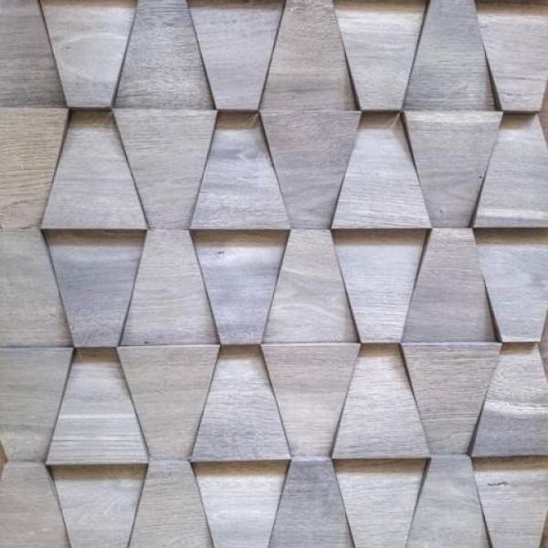 Стеновые 3D панели из дерева Esse 102 Старый дуб бабочка