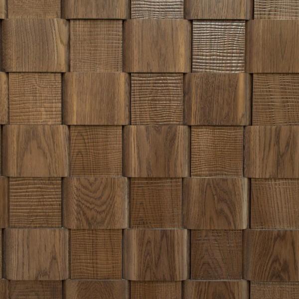 Стеновые 3D панели из дерева Esse 1006 Плетенка с тиснением волна