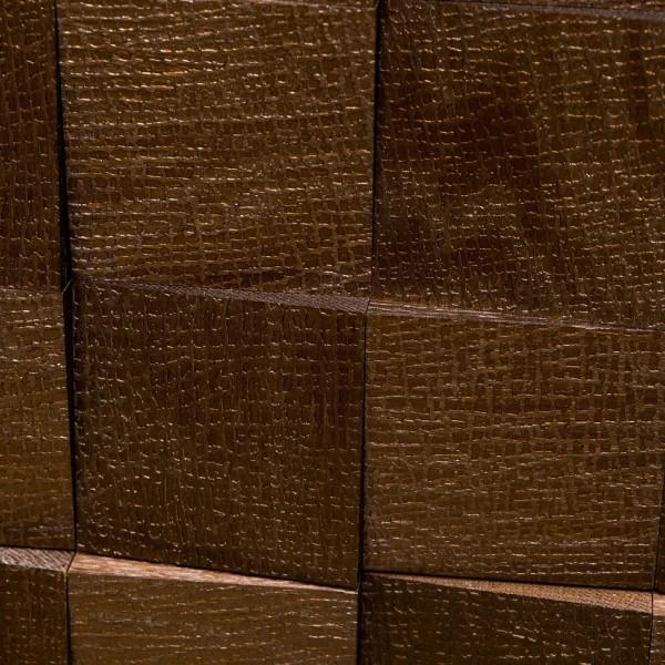 Стеновые 3D панели из дерева Esse 1010 Квадраты с тиснением бронза