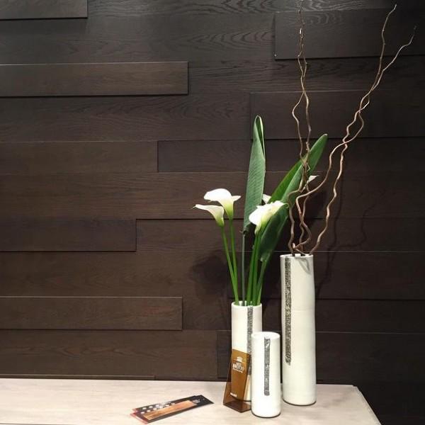 Стеновые 3D панели из дерева Esse 1011 Панели разбежка Тёмно-коричневый