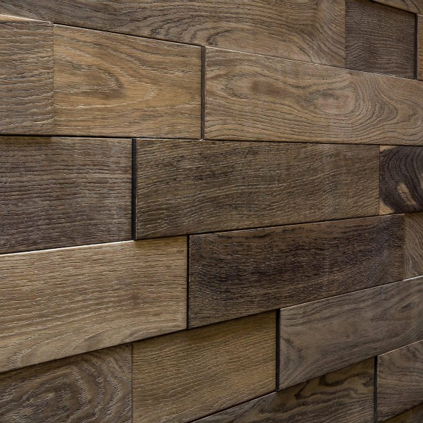 Стеновые 3D панели из дерева Esse 1011 Панели разбежка Седой (без фанеры)