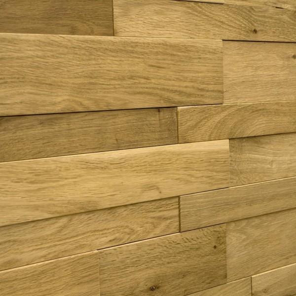 Стеновые 3D панели из дерева Esse 1011 Панели разбежка широкие узкие Песочный