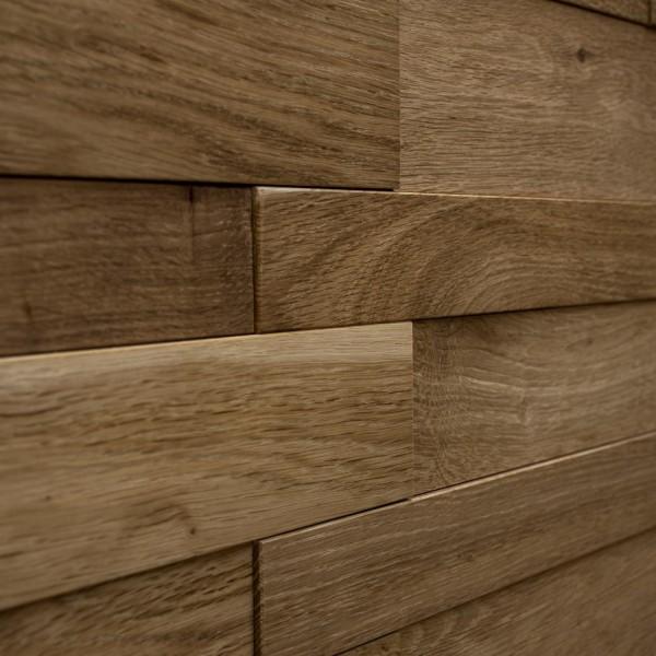 Стеновые 3D панели из дерева Esse 1012 Панели Натуральный дуб разноширинка