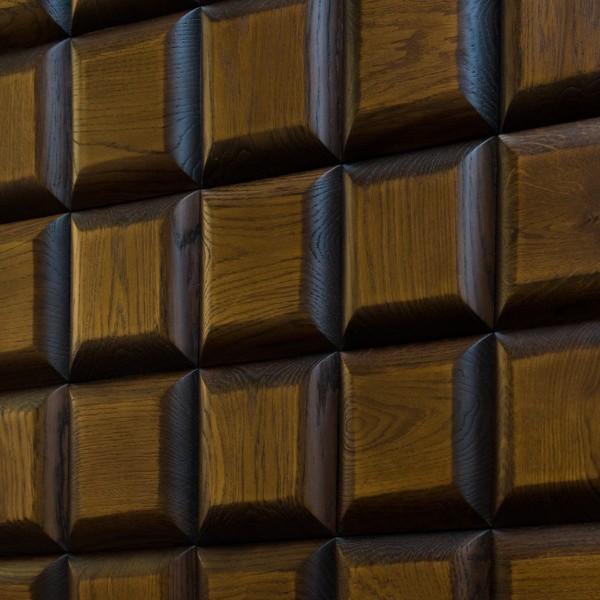Стеновые 3D панели из дерева Esse 1013 Квадрат Алёнка