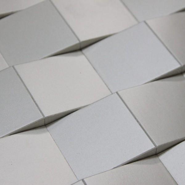 Стеновые 3D панели из дерева Esse 1015 Змейка (белая эмаль)