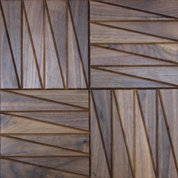 Стеновые 3D панели из дерева Esse 1023-ST Американский орех с фрезеровкой