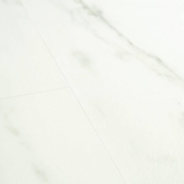 Виниловый ламинат Quick-Step Мрамор каррарский белый 40136