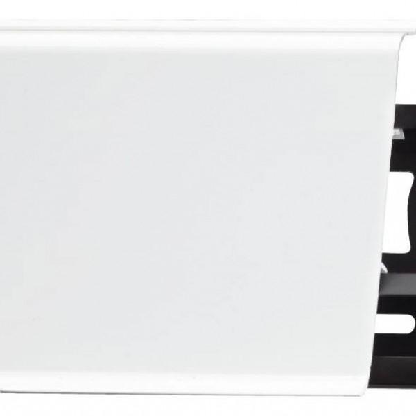 Прямой белый плинтус ПВХ Arbiton Indo 01 Белый блеск (White)