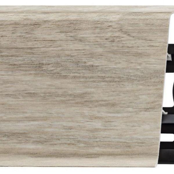 Пластиковый плинтус (ПВХ) Arbiton Indo 03 Дуб Лофт (Loft Oak) +монтажная планка