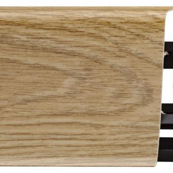 Широкий плинтус ПВХ Arbiton Indo 09 Дуб Изысканный (Menorial Oak)