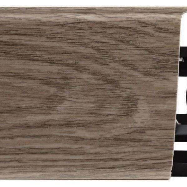 Пластиковый плинтус (ПВХ) Arbiton Indo 11 Дуб Скальный / Горный (Holm Oak)