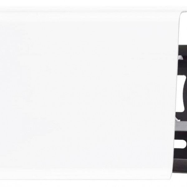 Пластиковый плинтус (ПВХ) Arbiton Indo 40 Белый матовый (White Mat)