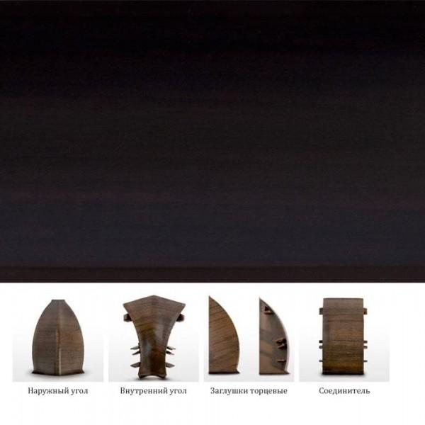 Пластиковый плинтус (ПВХ) Dollken MD63 2162 (W162) Венге темная (Wenge dunkel) +монтажная планка